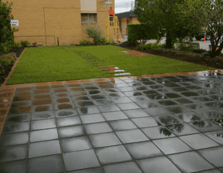 Brisbane paving brisbane garden design and landscaping for Courtyard landscaping brisbane